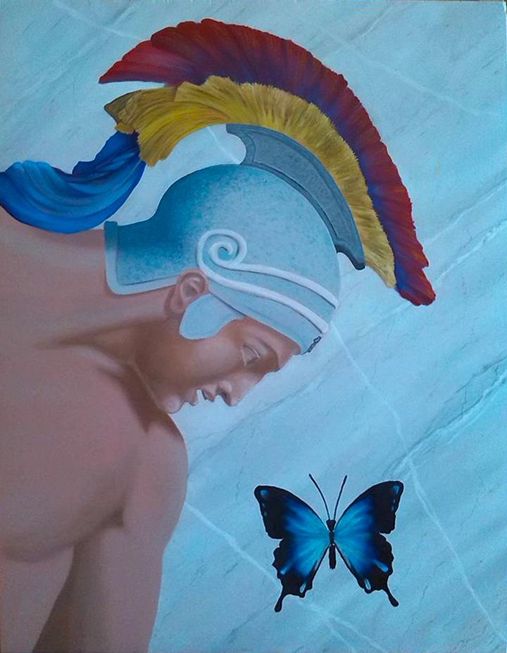 Kunstwerk gemaakt door Hans getiteld Papilio Ulysses