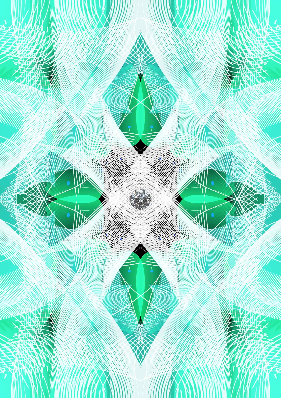 Kunstwerk gemaakt door Jeroen getiteld Diamond Fantasy