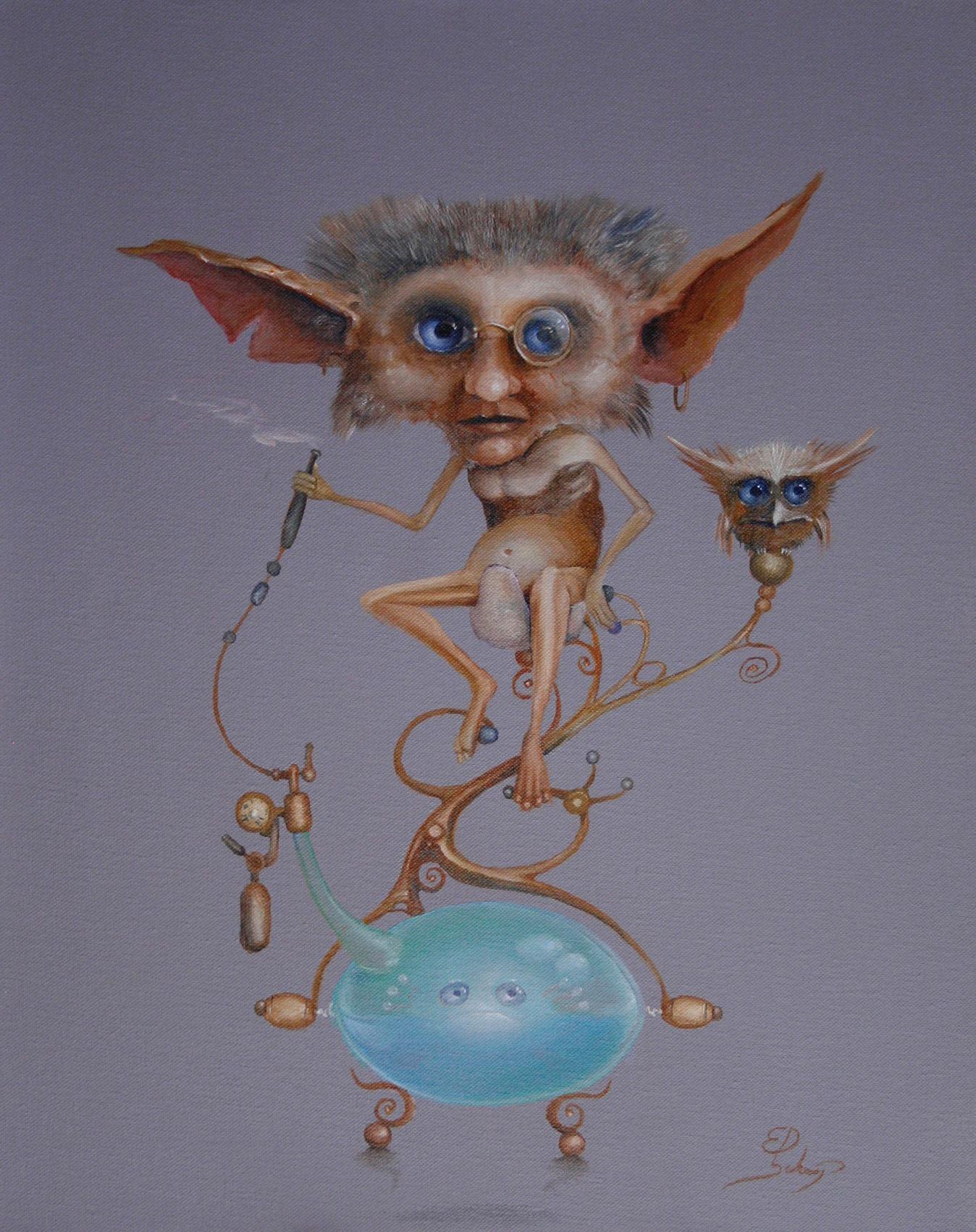 Kunstwerk gemaakt door Ed getiteld Druid