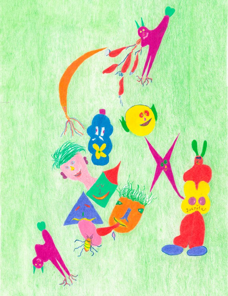 Kunstwerk gemaakt door juanita getiteld Kriskrasjes