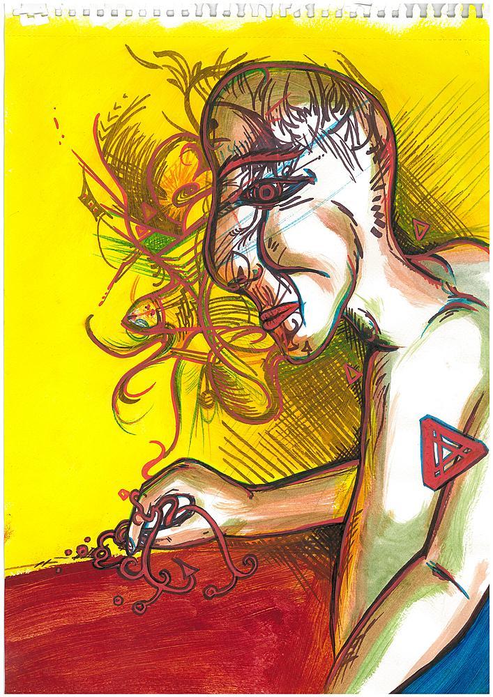 Kunstwerk gemaakt door Jeroen getiteld Good Listener