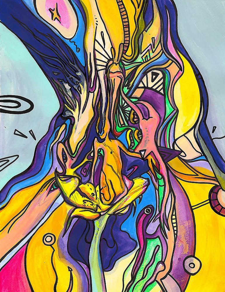 Kunstwerk gemaakt door Jeroen getiteld Come To Dust