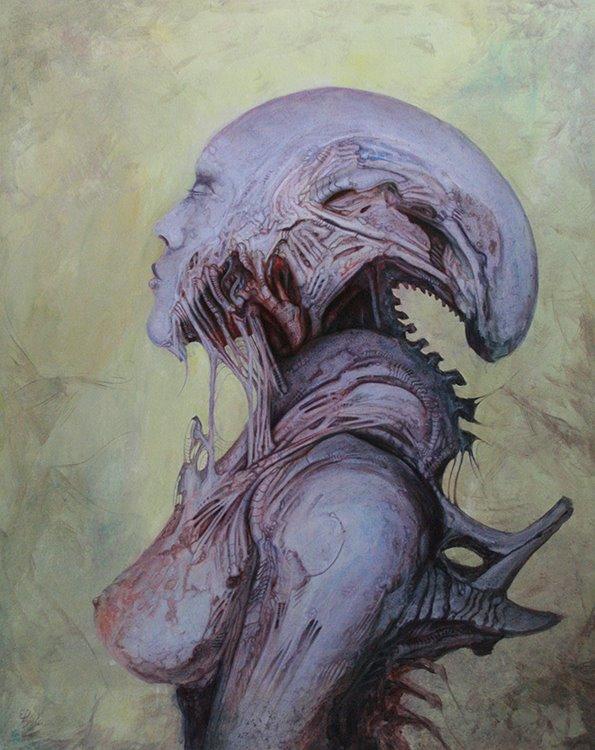 Kunstwerk gemaakt door Ed getiteld Dark Babylonian