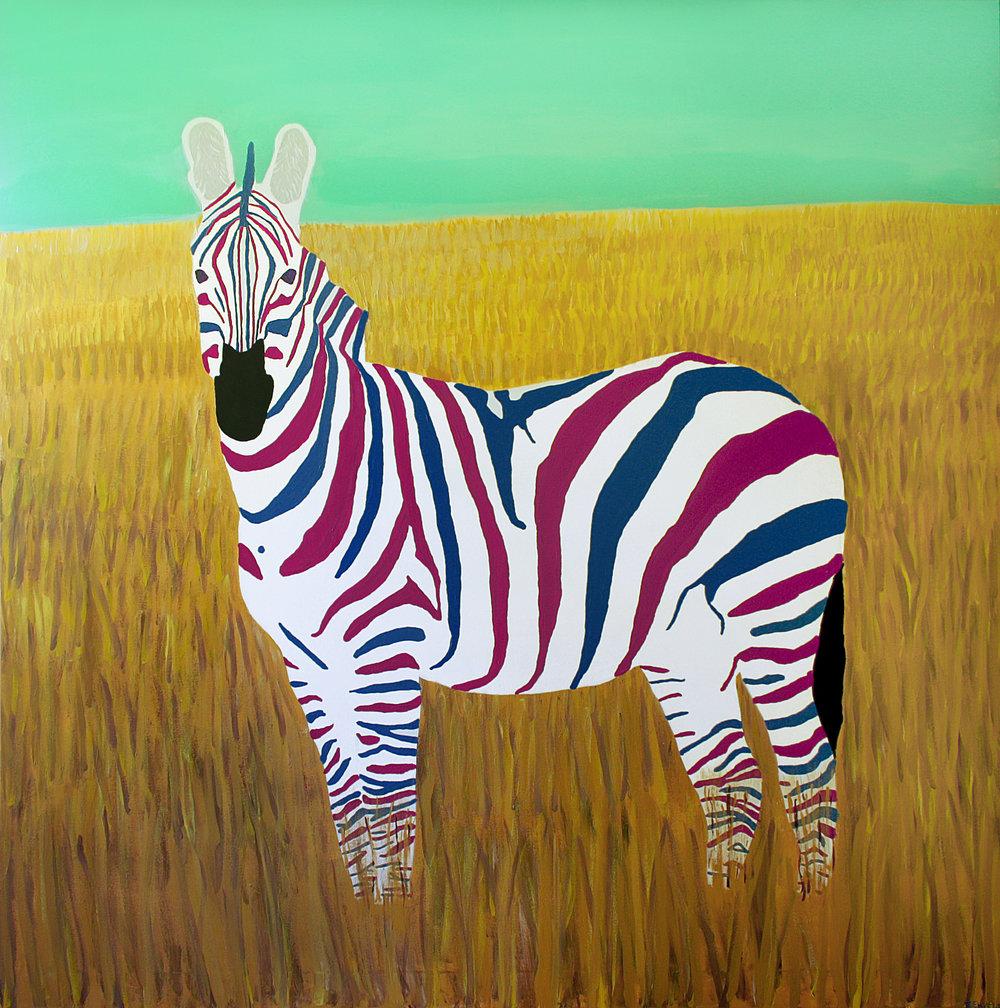 Kunstwerk gemaakt door Felix getiteld Dutch Zebra