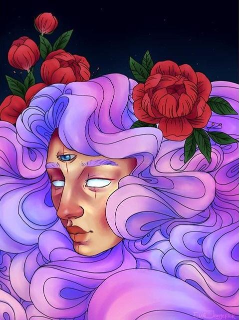 Kunstwerk gemaakt door Eva getiteld Tirisredraw