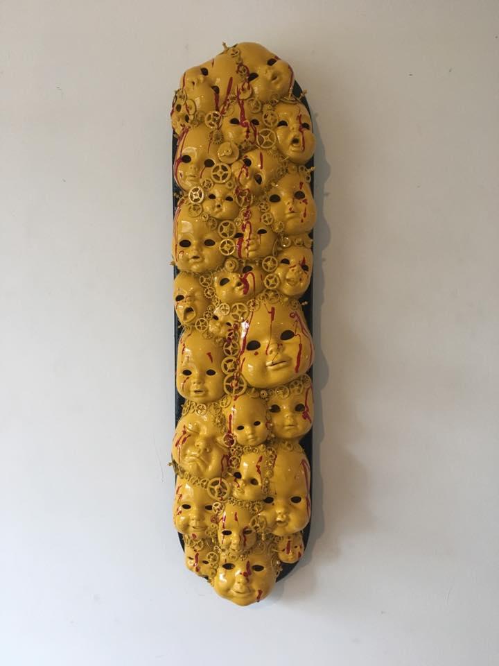 Kunstwerk gemaakt door Rhamsey getiteld Yellow heads