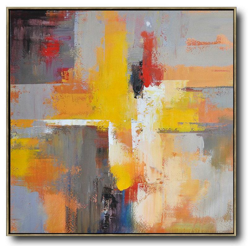 Kunstwerk gemaakt door canvas getiteld abstract painting