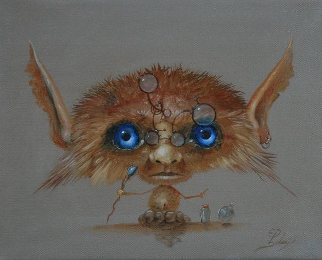 Kunstwerk gemaakt door Ed getiteld The little Wizard