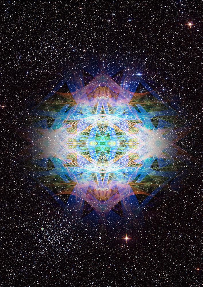 Kunstwerk gemaakt door Jeroen getiteld Universe Light