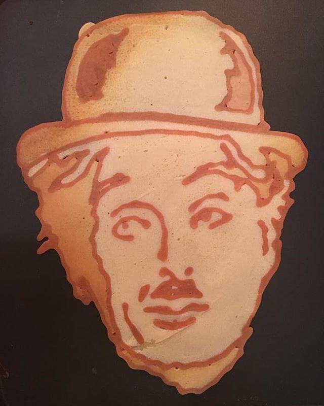 Kunstwerk gemaakt door Sander     getiteld Charlie Chaplin