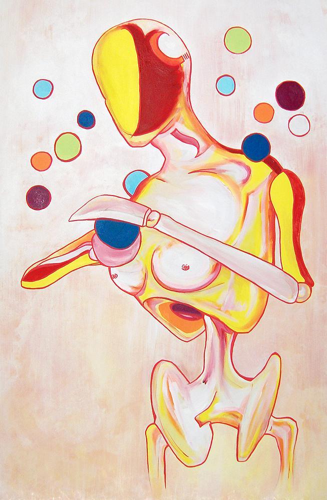 Kunstwerk gemaakt door Jeroen getiteld The Chancegrabber