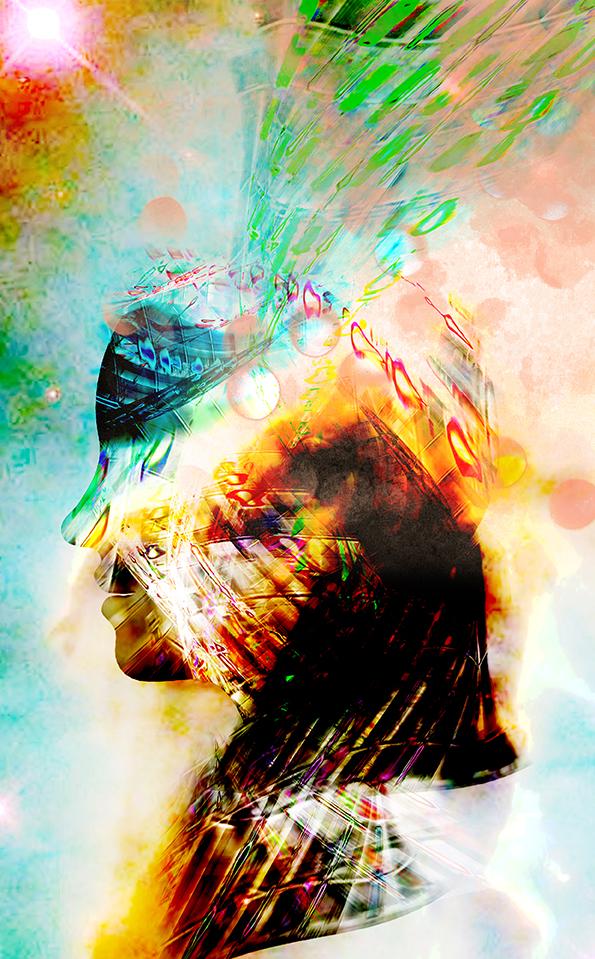 Kunstwerk gemaakt door Jeroen getiteld Tryout head
