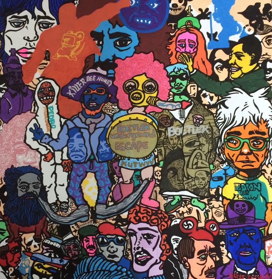 Kunstwerk gemaakt door Pieter getiteld Boetlek Underground Escape