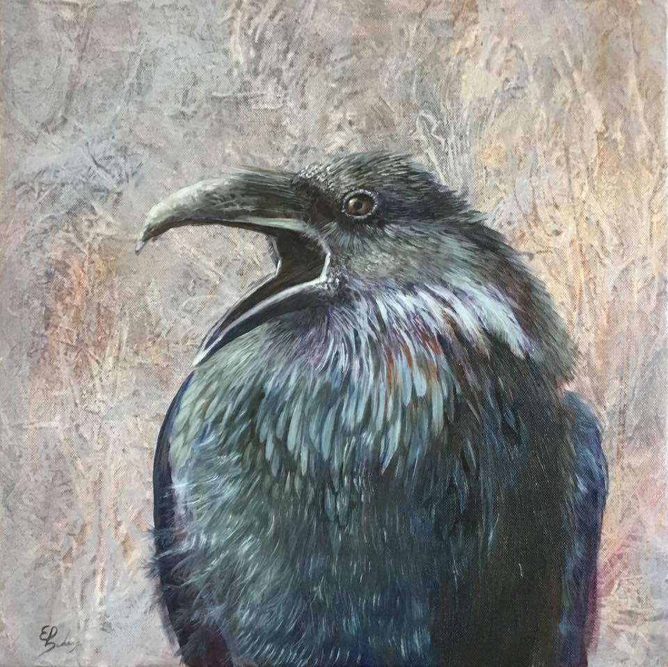 Kunstwerk gemaakt door Ed getiteld Crow