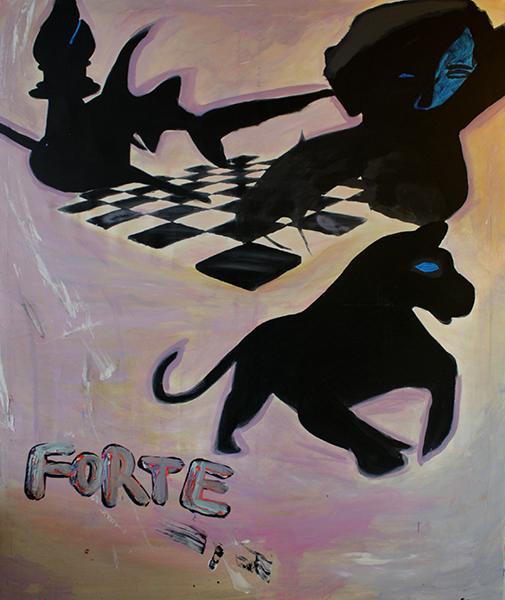 Kunstwerk gemaakt door Felix getiteld Forte