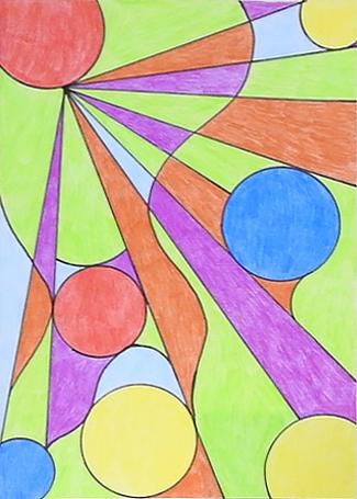 Kunstwerk gemaakt door Antje getiteld Cirkels