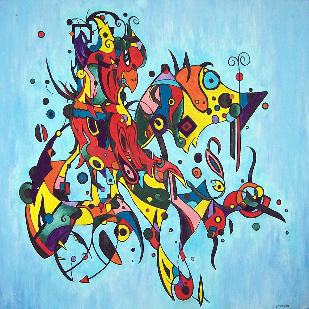 Kunstwerk gemaakt door Jeroen getiteld Calm Abstract Bird