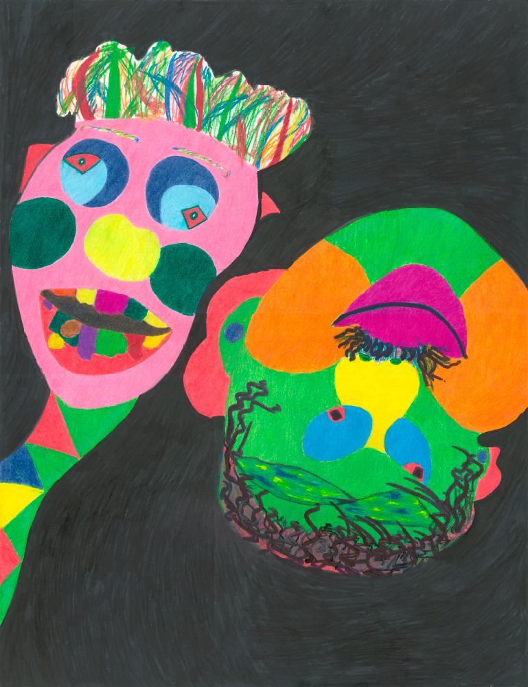 Kunstwerk gemaakt door juanita getiteld The heads