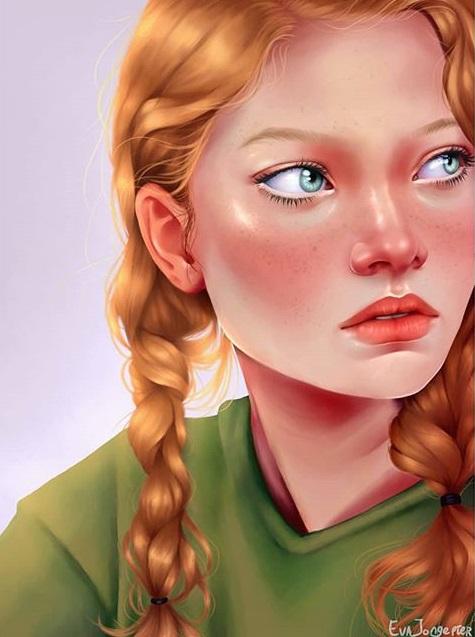 Kunstwerk gemaakt door Eva getiteld Portret