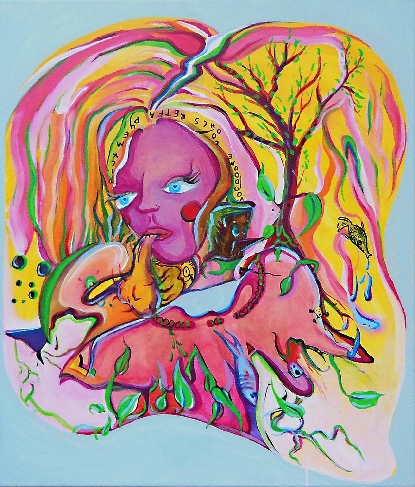 Kunstwerk gemaakt door Jeroen getiteld Pick me Up, Voodoo me