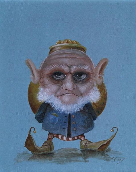 Kunstwerk gemaakt door Ed getiteld The Leprechaun