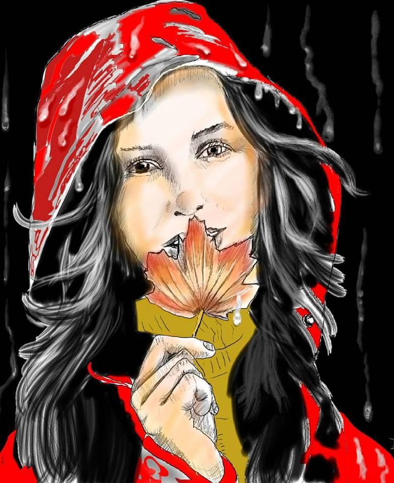 Kunstwerk gemaakt door Huub getiteld Inktober day 20, Autumn/Fall