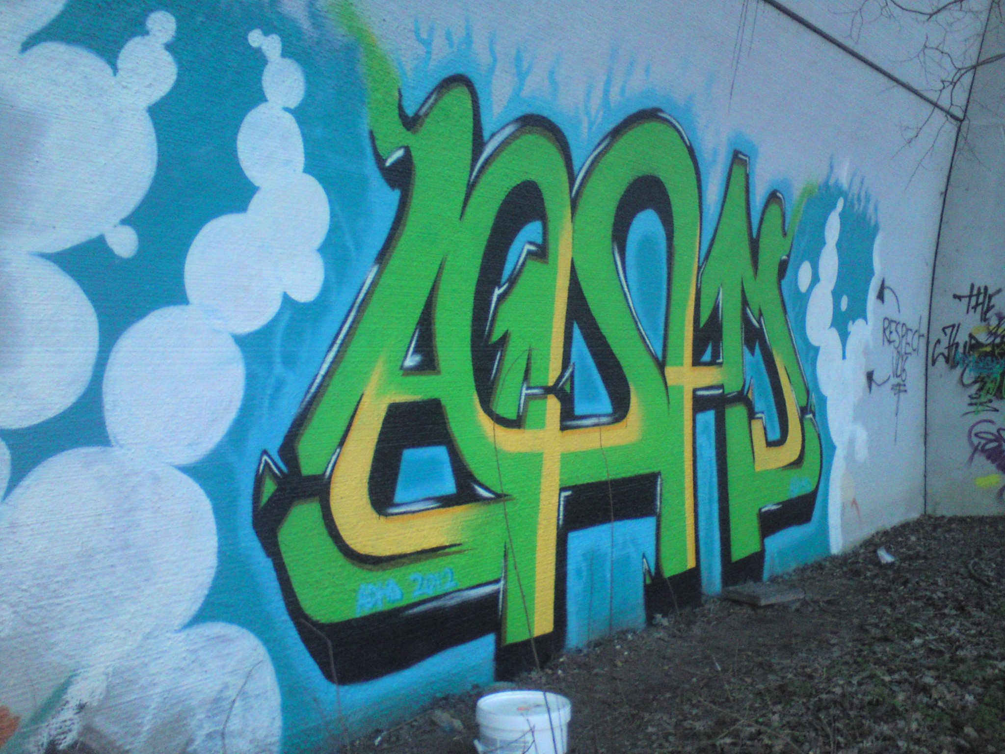 Kunstwerk gemaakt door Jeej getiteld ADHD, 2012