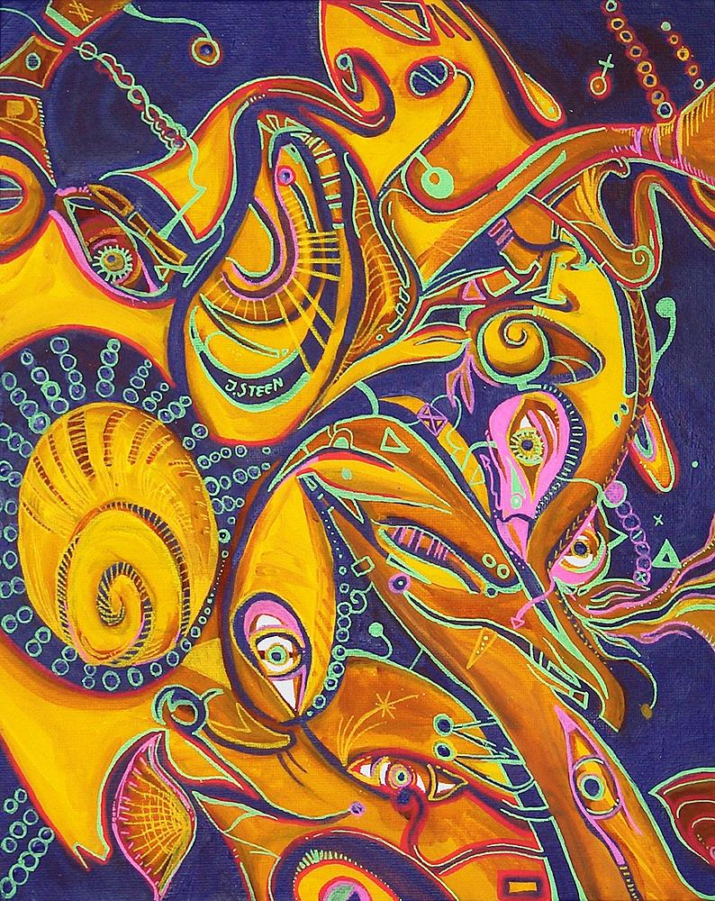 Kunstwerk gemaakt door Jeroen getiteld Together and Apart