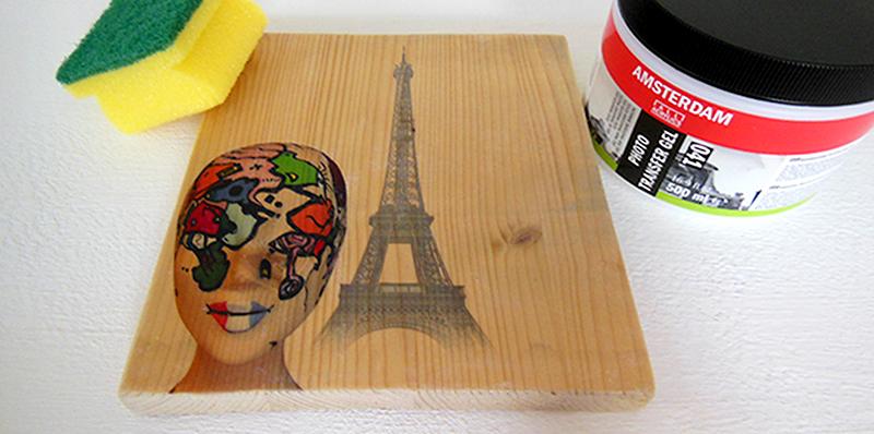 Laserjet fotoprint op hout
