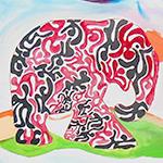 Kunstenaars maakten gezamenlijk schilderdoek